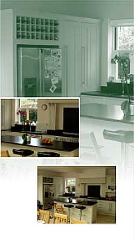 contemporary kitchen collage of 3 photos