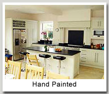white hand painted kitchen cabinets